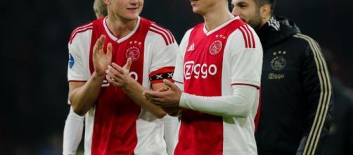 De Ligt e De Jong in una foto di quando ero compagni all'Ajax