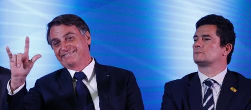 Jair Bolsonaro e Sergio Moro, silenciam sobre ataque terrorista ao Porta dos Fundos. (Arquivo Blasting News)