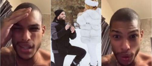 Nikola Lozina demandent des partenariats pour leur mariage, Marvin les clashe violemment. ®Snapchat : Marvin Tillière.