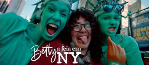 """""""Betty A Feia em NY"""" é a nova novela do SBT. (Reprodução/SBT)"""