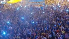 Milhares de fiéis ocupam as areias de Cabo Branco, na Paraíba, no Festival Louvor e Adoração