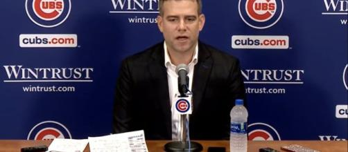 Cubs President of Baseball Operations Theo Epstein has a lot of decisions to make this offseason. [image source: Chicago Cubs- YouTube]