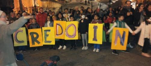 Flash Mob al Teatro Massimo di Palermo - Credo in te