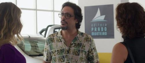 Mario cairá no golpe da barriga de Silvana em 'Bom Sucesso'. (Reprodução/TV Globo)