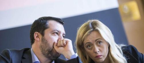 Matteo Salvini e Giorgia Meloni.