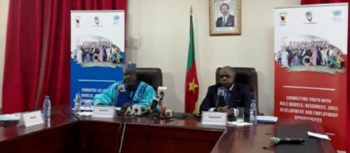 Point de presse du 4 novembre 2019 au Mincom en présence du Ministre de la Jeunesse Mounouna Foutsou (c) Mincom