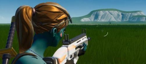 You can turn ammo reticle off in 'Fortnite Battle Royale.' [Source: In-game screenshot]