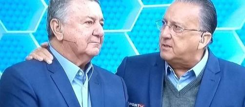 Galvão e Arnaldo na transmissão esportiva da Rede Globo. (Arquivo Blasting News)