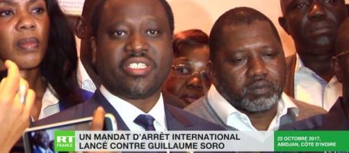 Guillaume SORO, ancien Président de l'Assemblée Nationale de Cpote d'Ivoire. Credit: Capture d'écran/ RT FRANCE