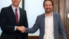 PSOE y Podemos firman un acuerdo para garantizar la investidura de Pedro Sánchez