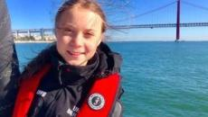Greta Thunberg arrived in Lisbon for COP25 after crossing the Atlantic in a catamaran