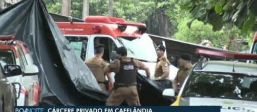 Depois de 28 horas, termina sequestro de adolescentes em Cafelândia. (Reprodução/TV Globo)