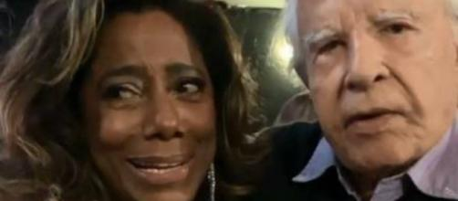 Gloria Maria manda Cid Moreira apagar vídeo em que é chamada de velha nas redes sociais. (Reprodução/Instagram)