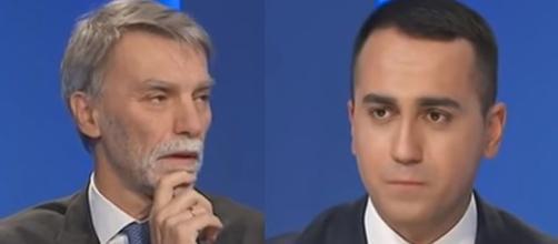 Graziano Delrio del Pd e Luigi Di Maio del M5s.
