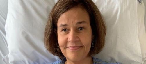 Claudia Rodrigues em imagem divulgada nesta quarta-feira (4), durante internação em hospital em São Paulo. (Arquivo Pessoal)