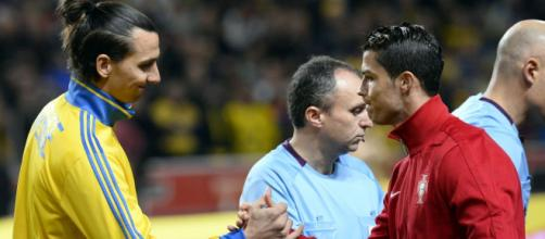 Ibrahimovic ataca Cristiano Ronaldo. (Arquivo Blasting News)