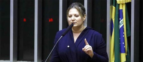 Joice Hasselmann em depoimento na Câmara. (Luis Macedo/Câmara dos Deputados)