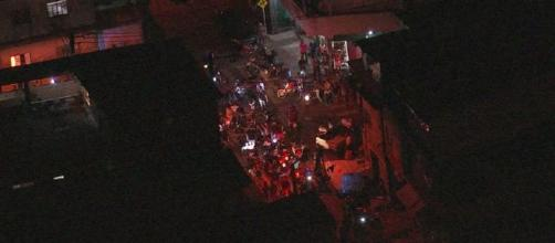 Moradores fazem protesto em Paraisópolis. (Reprodução/TV Globo)
