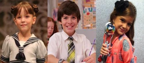 Eles ganharam destaque como estrelas na teledramaturgia ainda crianças. (Reprodução/Fotomontagem)