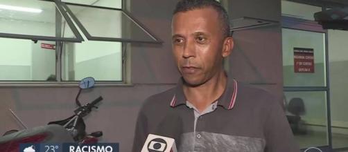 Mulher é detida por injúria racial contra taxista em BH. (Reprodução/TV Globo)