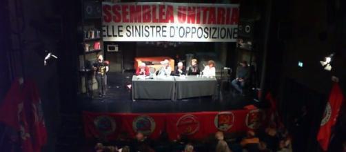 Assemblea delle sinistre di opposizione al Governo a Roma