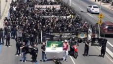 Policiais penais do Rio Grande do Norte realizam protesto em Natal