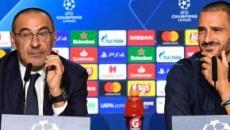 Juventus, Bonucci 'sgrida' Sarri durante il match contro la Lazio: 'Stai calmo'