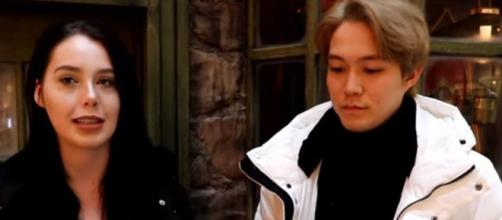 '90 Day Fiance': Jihoon looks unhappy on Christmas outing and that's unusual - Image credit - JunnyVanny YouTube