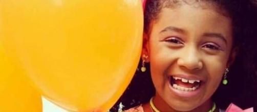 Agatha Vitória Sales Félix, de 8 anos, morreu após ser baleada no Complexo do Alemão. (Reprodução/Facebook/Arquivo Pessoal)