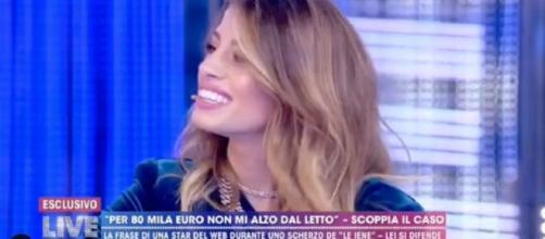 Chiara Nasti ospite della puntata del 9 dicembre di Live Non è la d'Urso.