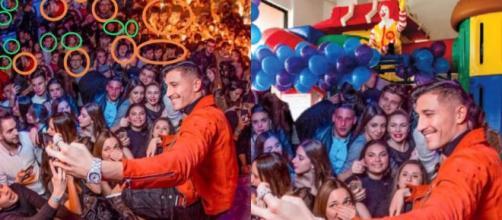 L'ex gieffino Gianmarco Onestini è stato preso di mira sui social per un fotomontaggio in discoteca: la folla sarebbe stata clonata.
