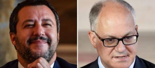 Lucia Annunziata ha intervistato Roberto Gualtieri e Matteo Salvini