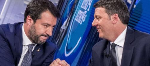 Matteo Salvini e Matteo Renzi a Porta a Porta