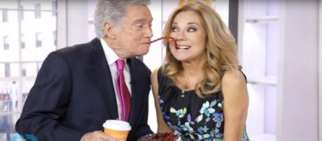 Regis Philbin is calling for Kathie Lee Gifford to be his stage partner again. [Image source-Wochit TV-YouTube]