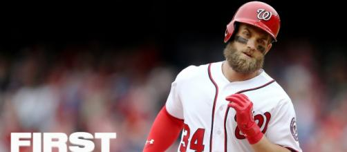 Bryce Harper continues to remain unsigned, but the San Diego Padres appear to be interested in the star slugger. - [ESPN / YouTube screencap]