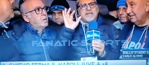 Carlo Alvino esulta per la sconfitta della Juve in Coppa Italia