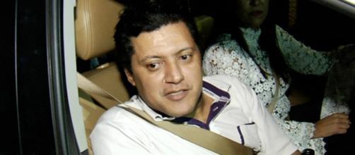 Na cadeia, Wellington Camargo conversou com João de Deus (Reprodução/TV Anhanguera)