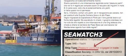 Seawatch sarebbe uno yacht, secondo Toninelli