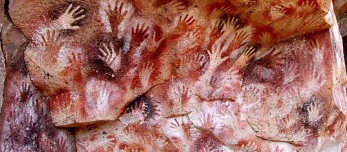 The Cave of the Hands in Argentina's Patagonia. [Image Mariano/Wikimedia]