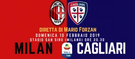 Serie A: Milan - Cagliari ore 20.30 San Siro (Milano)