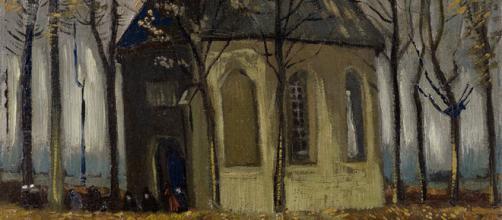 'Congregation Leaving the Reformed Church in Nuenen', de Van Gogh. (Wikimedia Commons)