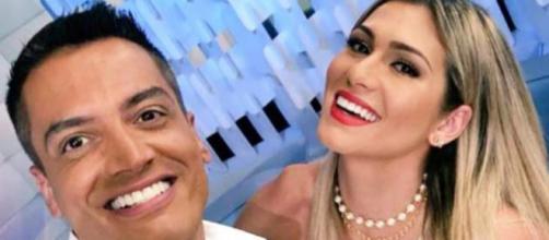 Leo Dias e Livia Andrade (Reprodução SBT)