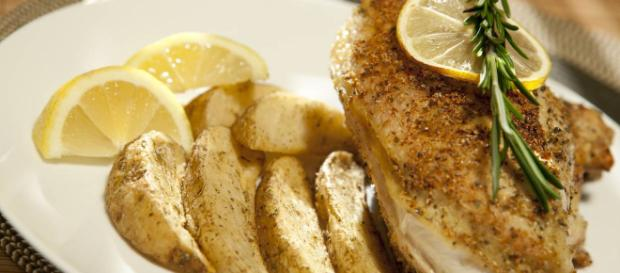 Ricetta Pollo al limone al forno.