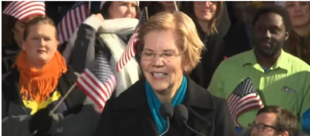 Sen. Elizabeth Warren announces 2020 bid for President. [Image source/NBC News YouTube video]