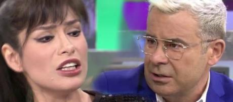 Miriam Saavedra y Jorge Javier Vázquez en Sálvame Diario