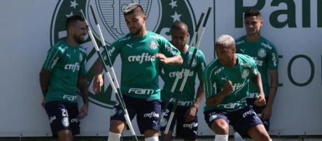 Palmeiras encara o Bragantino no Pacaembu (Foto: Divulgação Palmeiras)