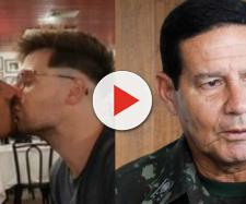 Casal homossexual tenta provocar Mourão em restaurante - Foto/Reprodução