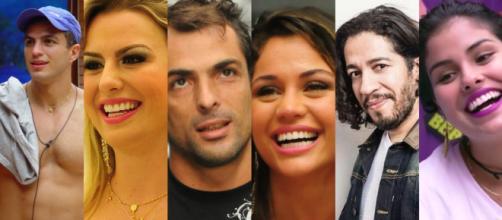 Alguns dos vencedores do reality show Big Brother Brasil (Reprodução/Divulgação TVGlobo)