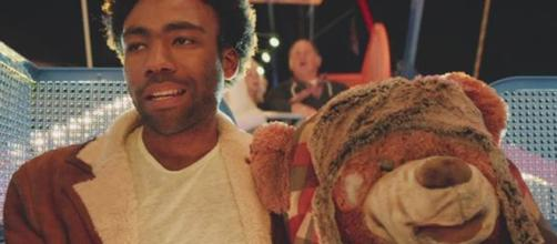 Donald Glover made hip-hop music history with his Grammy wins on Sunday (Feb. 10). [Image via Donald Glover VEVO/YouTube]