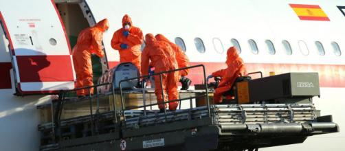 La UMAER en evacuación de enfermos de Ébola en 2014